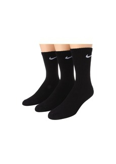 Nike Cotton Cushion Moisture Management Crew Sock 3-Pair Pack (Little Kid/Big Kid)