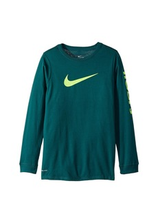 Nike Dry Hoops Basketball Long Sleeve Tee (Little Kids/Big Kids)