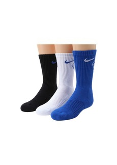 Nike Graphic Cotton Cushion Crew 3-Pair Pack (Little Kid/Big Kid)