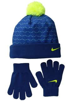 Nike Graphic Pom Beanie & Gloves Set (Little Kids)