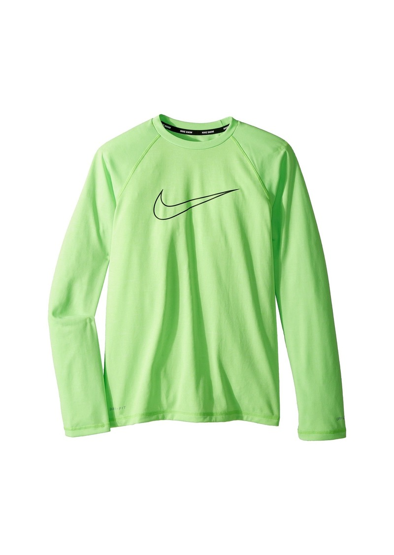 d1e4d0ed Nike Heather Swoosh Long Sleeve Hydroguard (Big Kids) | Swimwear