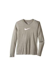Nike Leg V-Neck Swoosh™ L/S Tee (Little Kids/Big Kids)