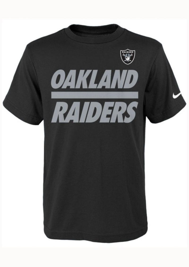 Nike Kids' Oakland Raiders Team Stripe T-Shirt