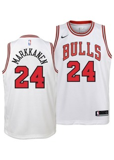 Nike Lauri Markkanen Chicago Bulls Association Swingman Jersey, Big Boys (8-20)
