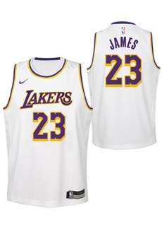 Nike LeBron James Los Angeles Lakers Association Swingman Jersey, Big Boys (8-20)