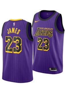 Nike LeBron James Los Angeles Lakers City Edition Swingman Jersey 2018, Big Boys (8-20)