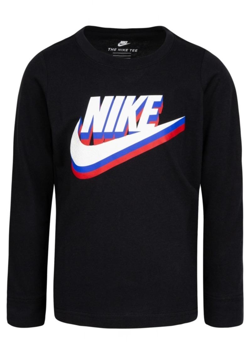 Nike Little Boys Cotton Multi-Color Logo T-Shirt