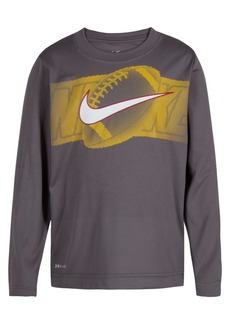 Nike Little Boys Dri-fit Halftone Football Graphic-Print Shirt