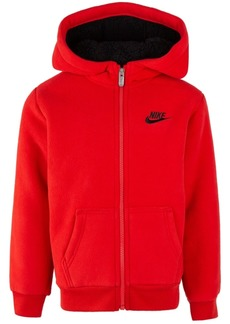 ac0e7b0c5208de Nike Toddler Boys Faux-Sherpa Full-Zip Hoodie