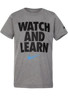 Nike Little Boys Learn-Print T-Shirt