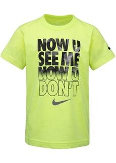 Nike Toddler Boys See Me-Print Cotton T-Shirt