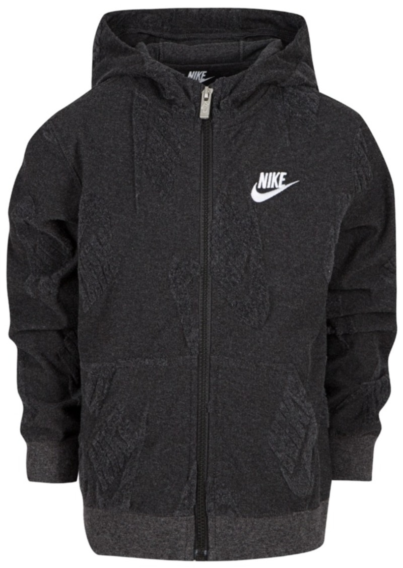 Nike Toddler Boys Sportswear Jacquard Logos Zip-Up Hoodie