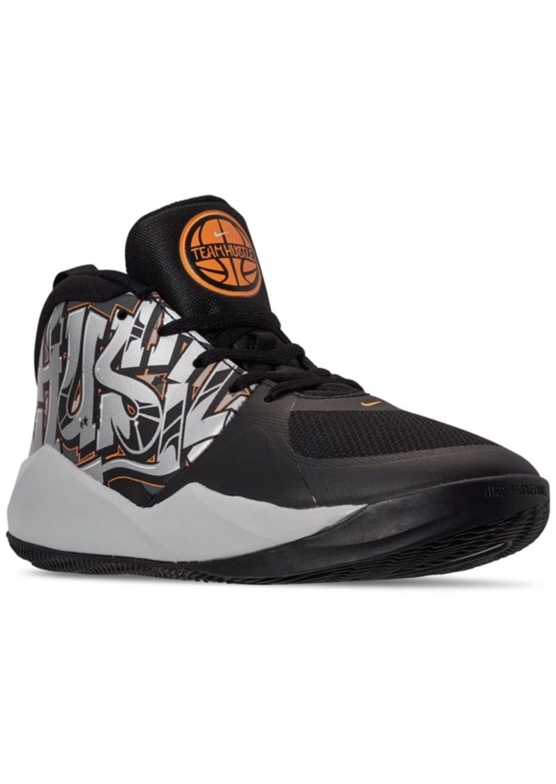 Nike Little Boys Team Hustle D 9 Graphic Stay-Put Closure Basketball Sneakers from Finish Line