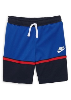 Nike Little Boy's Two-Tone Mesh Slogan Shorts