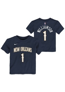 Nike Little Boys Zion Williamson New Orleans Pelicans Icon Replica Name and Number T-Shirt