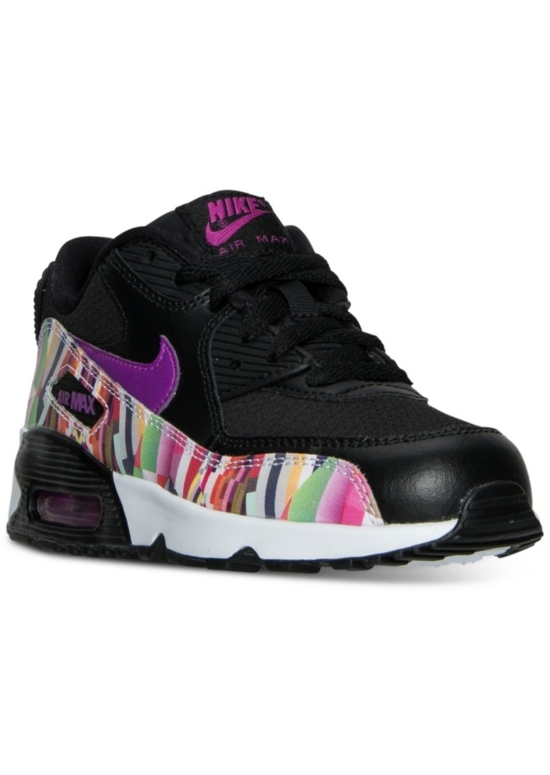 Nike Little Girls' Air Max 90 Se Mesh Running Sneakers from Finish Line
