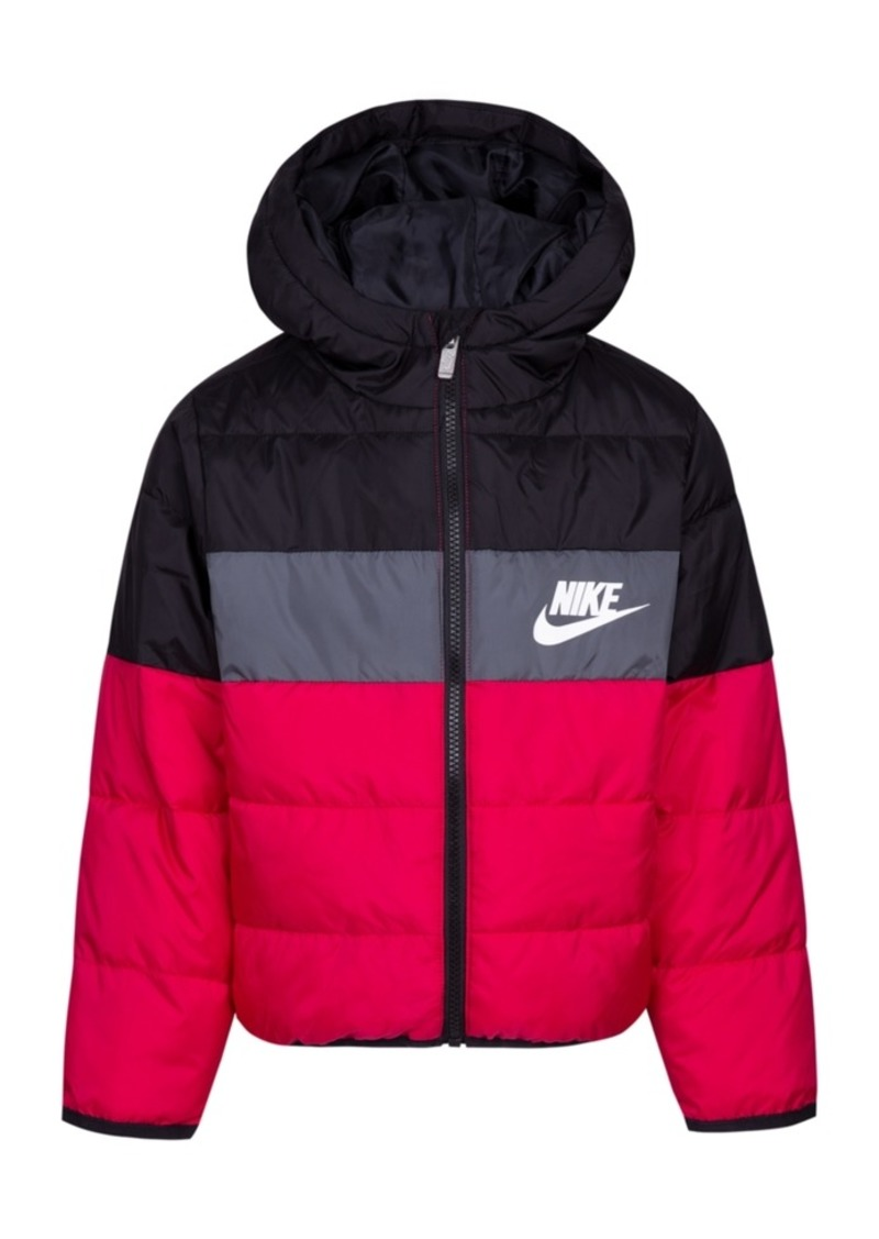 946ba14ca Nike Nike Toddler Girls Colorblocked Oversized Quilted Down Puffer ...