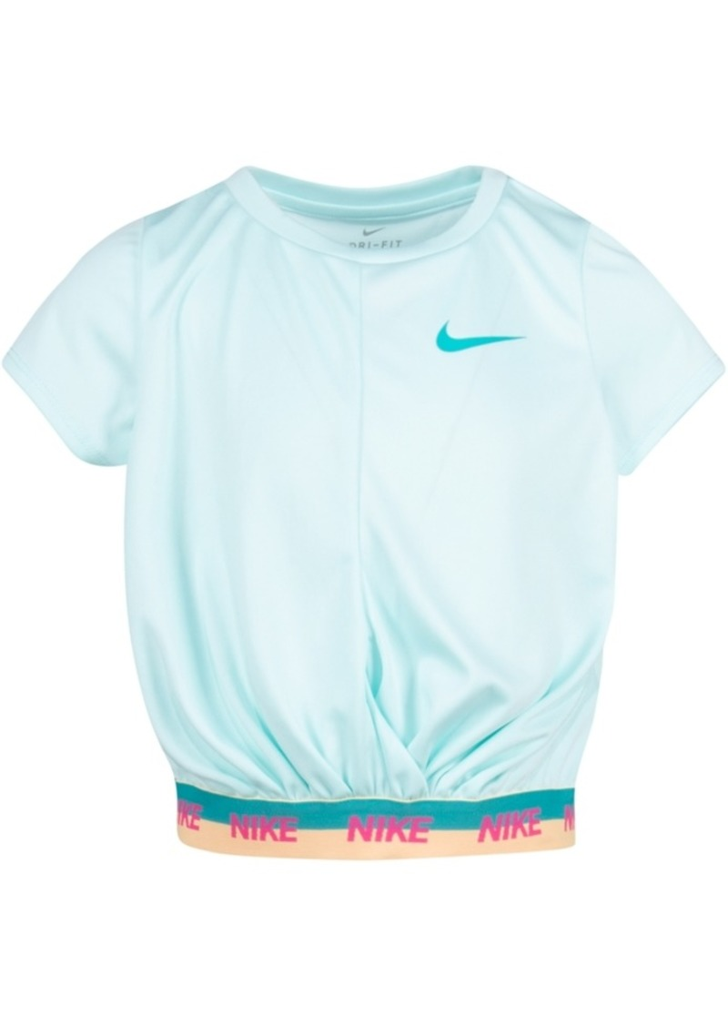 Nike Toddler Girls Cropped Dri-fit Logo T-Shirt