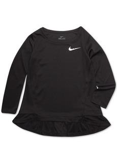 Nike Little Girls Dri-fit Peplum Top