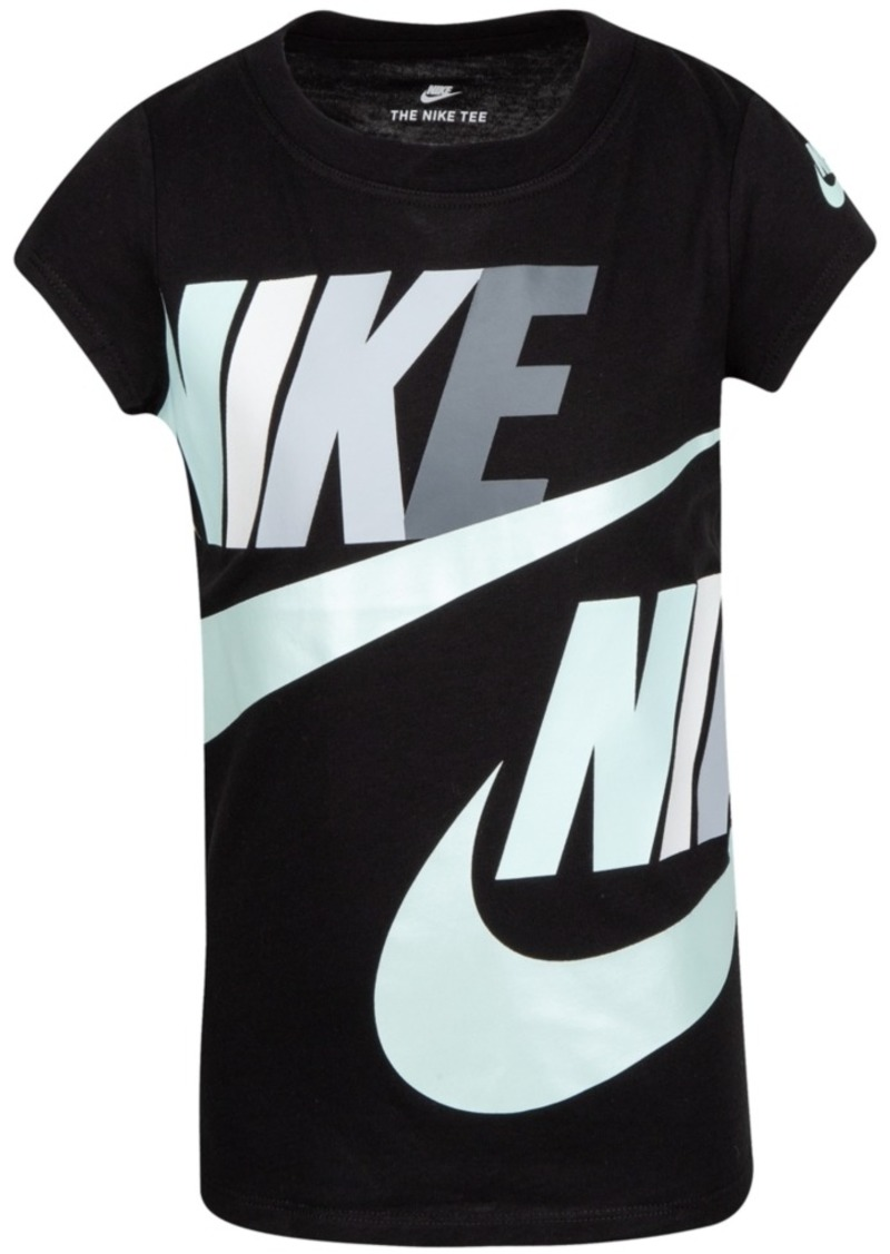 Nike Little Girls Futura Logo-Print Cotton T-Shirt