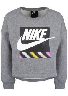 Nike Toddler Girls Futura Logo-Print Fleece Sweatshirt