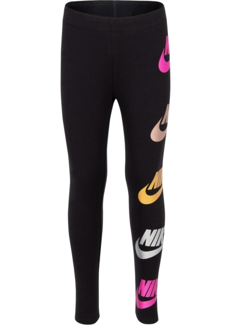 Nike Little Girls Futura-Print Shine Leggings