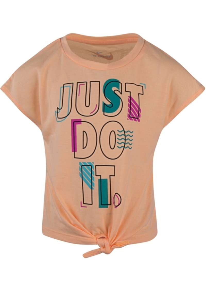 Nike Little Girls Just Do It Logo Tie-Front T-Shirt