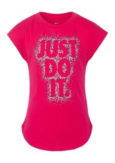 Nike Little Girls Just Do It-Print T-Shirt