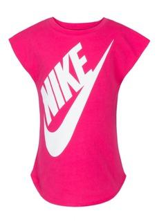 Nike Little Girls Logo-Print T-Shirt