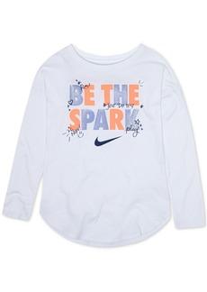 Nike Little Girls Long-Sleeve Graphic-Print T-Shirt