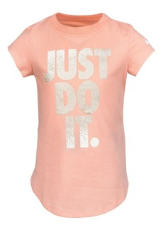Nike Little Girl's Metallic Graphic Cotton Jersey Tee