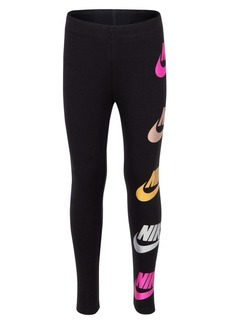 Nike Little Girl's Metallic Logo Leggings