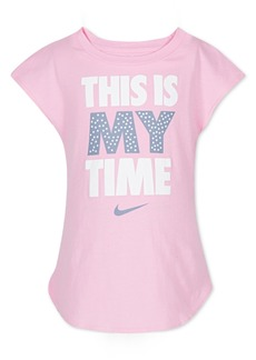 Nike Little Girls My Time Graphic-Print Cotton T-Shirt