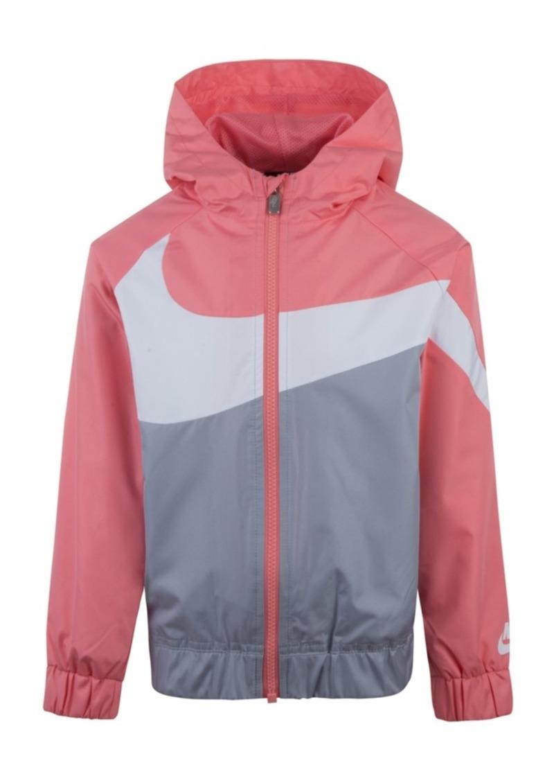 Nike Little Girls Oversized Swoosh Windrunner Jacket