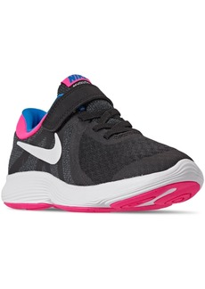 Nike Little Girls Revolution 4 Stay-Put Closure Athletic Sneakers from Finish Line