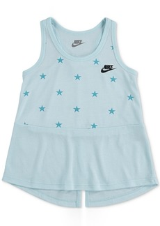 Nike Little Girls Stars Split-Hem Tank Top