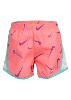 Nike Little Girls Swoosh All Over Print Temp Shorts