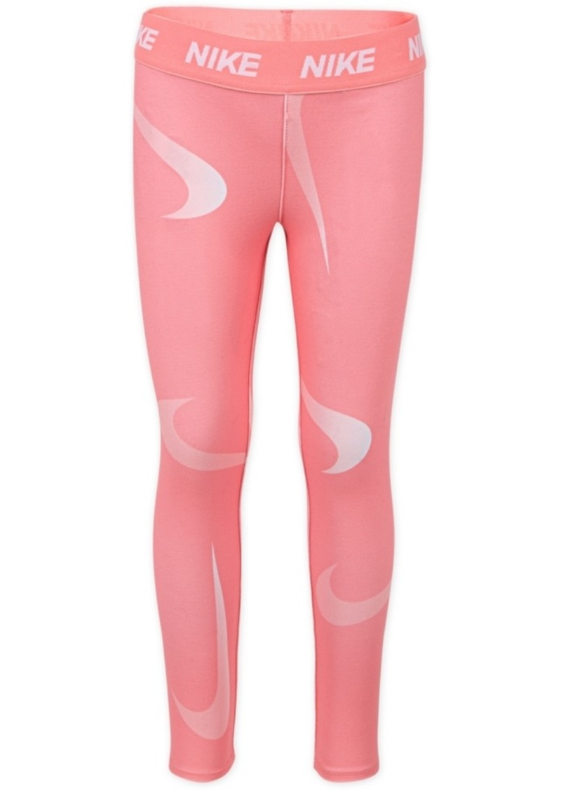 Nike Toddler Girls Swoosh-Print Leggings