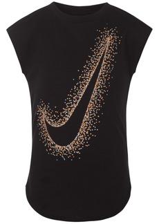 Nike Little Girls Swoosh-Print T-Shirt