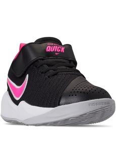 Nike Little Girls' Team Hustle Quick 2 Basketball Sneakers from Finish Line