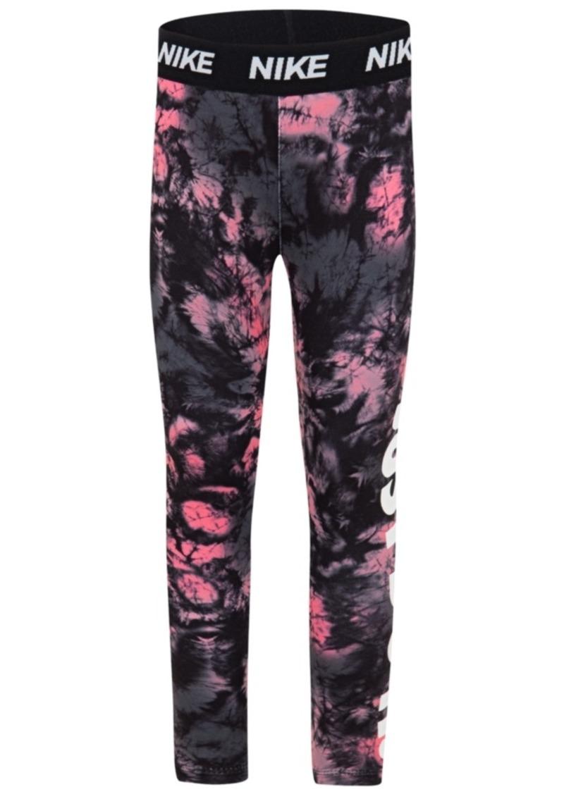 Nike Little Girls Tie-Dyed Dri-fit Leggings