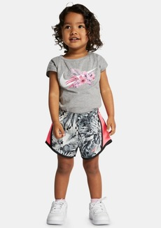 Nike Little Girls Wonderland Swoosh Logo T-Shirt