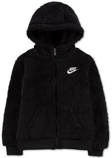 Nike Little Little Boys Faux Sherpa Hoodie