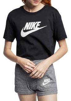 Nike Logo Cropped Cotton Tee