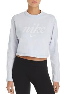 Nike Logo Cropped Sweatshirt