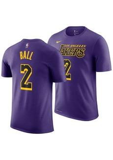 Nike Lonzo Ball Los Angeles Lakers City Edition T-Shirt, Big Boys (8-20)