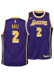 Nike Lonzo Ball Los Angeles Lakers Statement Swingman Jersey, Big Boys (8-20)