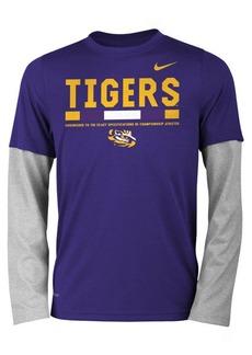 Nike Lsu Tigers Legend Long Sleeve Staff T-Shirt, Big Boys (8-20)