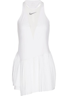 Nike Maria Dri-FIT pleated mesh-paneled stretch tennis dress