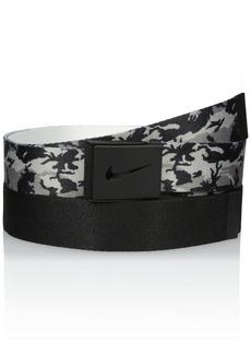 Nike Men's 2 Pack Web Belt In Giftable Tin black Camo/black